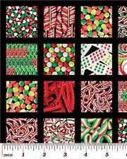 Sweet Tooth Candy almacenar golosinas Algodón Colchas de retazos de tela Panel 4966 Benartex