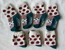 Goodfellow baby boy girl unisex socks 7 pairs polka dot sz 12-24mn NWOT
