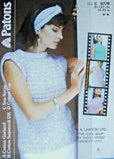 Knitting Pattern Ladies Summer Top in Cotton Double Knit Patons 8778