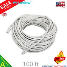 100FT CAT5e Patch Ethernet Internet LAN Network Modem Router Cable PoE PC Laptop