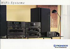 Pioneer catalogue prospectus systèmes HiFi 1991 MIDI/MINI n-90t n-92m pd-z570t s-909d