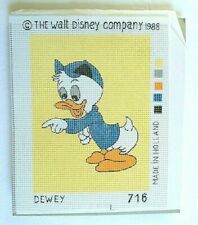 Walt Disney Company Half Cross-Stitch Tapestry Kit Dewey 1988 Unmade Open Bag