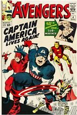 The Avengers #4 Facsimile Reprint Cover Only w/Orig Ads 1st SA Captain America