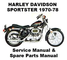 SPORTSTER XL 883 1000 - Owners Workshop Service Repair Parts Manual PDF on CD-R