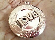 "Silver LOVE PHOTO LOCKET sterling 18"" chain necklace Christmas Valentine Gift"