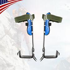 U Tree Climbing Spike Set Safety Adjustable Belt Lanyard Rope Rescue Belt 2gears