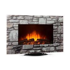 Cheminée électrique Simulation flammes Fonction chauffage 1000W & 2000W - verre