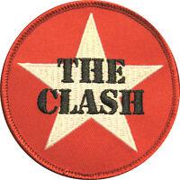 "CLASH / THE CLASH AUFBÜGLER / EMBROIDERY PATCH # 12 ""LOGO RUND"" - 8cm"