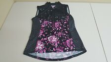 NEW Terry Cycles Sleeveless Jersey Floral Black Pink Bike Cycling Women's Large