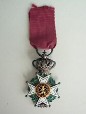 BELGIUM ORDER OF LEOPOLD KNIGHT GRADE W/ GOLD BUTTONS. PRINCE SIZE TYPE 1  VF+