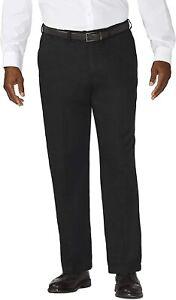 Haggar Mens Pants Black Size 54X30 Big & Tall Work to Weekend Khaki $65- #599