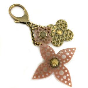 Louis Vuitton Monogram Bijou Sac Gram Flower Rose Key Ring Charm /A0270