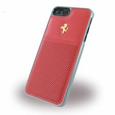 Ferrari GT Berlinetta Hard Case Perforated Red Leather G.Logo iPhone 7