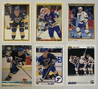 🏒HOF Brett Hull 6-CARD LOT including 2 TIFFANY 1990-91 Bowman cards
