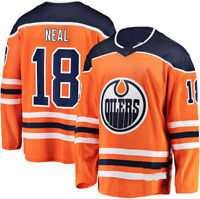 James Neal Edmonton Oilers #18 Stitched Jersey orange Men's Game Player