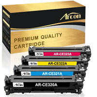 4 Pack Set for HP CE320A 128A Color Toner LaserJet Pro CM1415fnw CP1525 CP1525nw