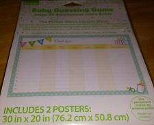 NEW NIP Celebrate Baby Guessing Game Includes 2 Posters - Work and Family Fun