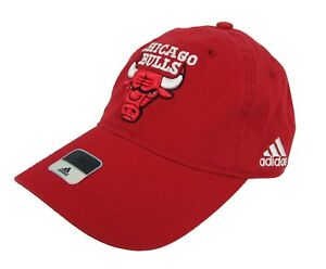 Adidas NBA Chicago Bulls Fitted Red Hat Cap NWT