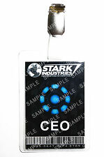 Iron Man Stark Industries CEO ID Badge Cosplay Prop Costume Novelty Comic Con