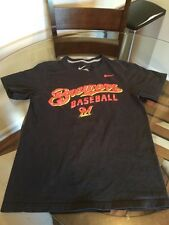 Milwaukee Brewers Black Nike Baseball T-Shirt Small Excellent Condition