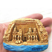 Egypt Fridge Magnet Stickers Aswan Abu Simbel Temple 3D Resin Tourist Souvenir