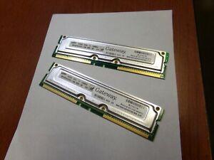Samsung Korea 0348 H 128MB/4 800 MHz DRAM Memory (MR16R1624DF0CM8) (Lot of 2)