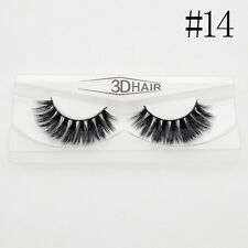 Soft Style 20 Natural 3d Eye Makeup Lashes Thick False Eyelashes Long Real Mink #14