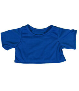 "Royal Blue T-Shirt Teddy Bear Clothes Fits Most 14""-18"" Build-a-bear and Make Yo"