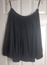 Papaya Ladies Black  A Line Flared Pleated Skirt Size UK 18
