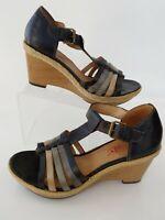 Pikolinos 39 Platform Wedge Sandles Leather Woman's Size 39