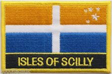Isles of Scilly Cornwall Flag Embroidered Patch Badge - Sew or Iron on