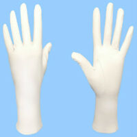 NEW WOMENS size 7.5 or large GENUINE WHITE LAMBSKIN UNLINED LEATHER DRESS GLOVES