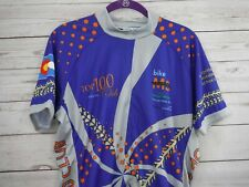 bike MS Cycling Jersey Unisex Large 2011 Colorado's Ride Top 100 Club New St222