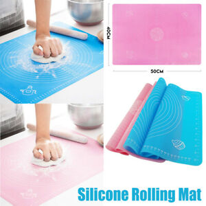 Large Silicone Baking Mat for Pastry Rolling Dough with Measurements Non-Slip