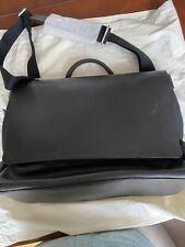 NEW $695 Shinola Detroit Flap Messenger Bag; Leather and cotton-canvas, Stylish!