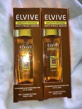 **L'Oreal Paris Elvive Smooth-Silk Intense Anti-Frizz Serum 50ml 2 Packs **