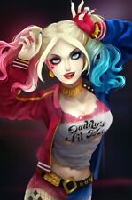 DC COMICS MOVIE JUSTICE LEAGUE JLA HARLEY QUINN JOKER'S GIRL FRIDGE MAGNET #15