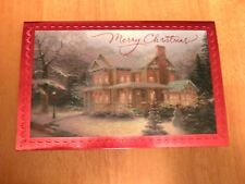 Victorian Christmas III --- Thomas Kinkade xmas Card w/ Message --- Not Postcard