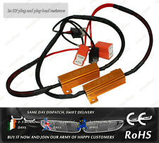 Cree LED H7 50W 6Ohm 12V OBD CanBus Warning Error Canceller Resistors Capacitor