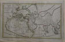 ANCIENT WORLD 1792 DELISLE DE SALES UNUSUAL ANTIQUE  COPPER ENGRAVED WORLD MAP