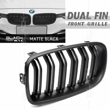 Matte Black Dual Kidney Front Grille for BMW 3 series F30 F31 2012-16 Free Clip
