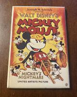 Vintage 1996 Walt Disney Mickey Mouse Magnet Mickey's Nightmare Movie Poster