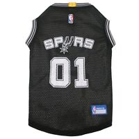 San Antonio Spurs NBA Officially Licensed Pets First Dog Pet Mesh Black Jersey
