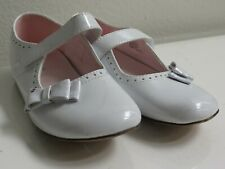 Kids Girl Dressy Shoes Slip On Ribbon Strap Dress Loafers Flats White Size 12