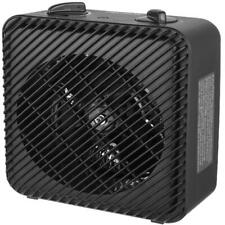 Mainstays 1500W 3-Speed Electric Fan-Forced Space Heater for Home, Black White