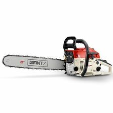 """NEW 58cc Commercial Petrol Chainsaw 20"""" Bar E-Start 2*Chains Saw Tree Pruning"""