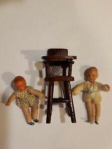 Dollhouse Miniature Unfinished Metal Small Lady Figurine #3