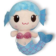 "8"" Blue Little Mermaid Baby Girl Cute Doll Stuffed Animal Soft Plush Toy New"