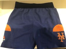 New York Mets MLB 3-6 Month Blue & Orange Shorts Majestic Elastic Waist
