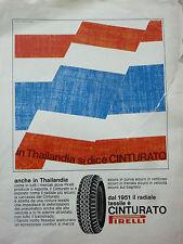ADVERTISING PUBBLICITA'  ANCHE IN THAILANDIA SI DICE PIRELLI -- 1968